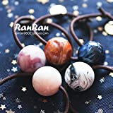 ? temperament simple gradient blooming planet large ball hair rope circle hair color into 5 for women girl lady
