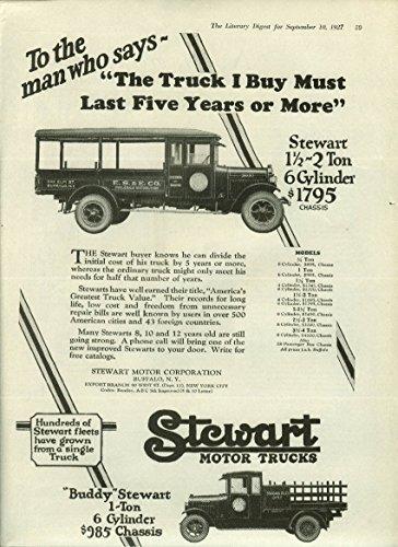 Wholesale Buffalo (Stewart Motor Trucks ad 1927 E S & E Wholesale Buffalo Standard Oil of NY)