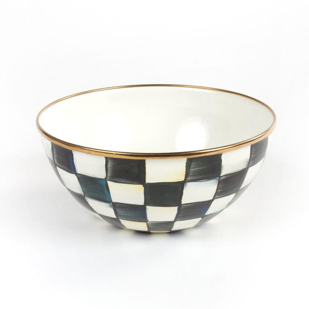 MacKenzie-Childs Courtly Check Enamel Everyday Bowl - Small 7.75'' dia., 3.5'' tall (5 cups)