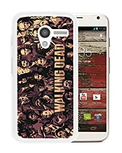 Fashionable Custom Designed Cover Case For Motorola Moto X With Walking Dead White Phone Case