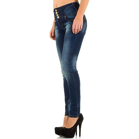 Damen Jeans, USED LOOK HIGH WAIST SKINNYJEANS, KL-K-16022, Blau, S:  Amazon.de: Bekleidung