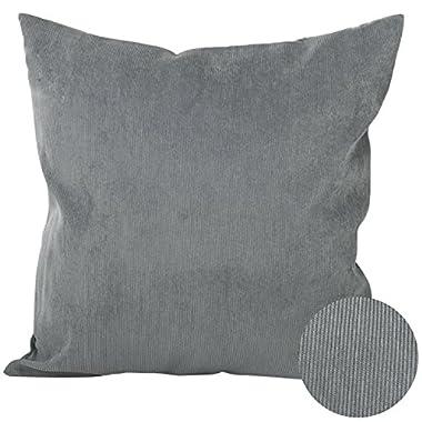 Deconovo Throw Cushion Tufted Home Decorative Hand Made Pillow Case Cushion Cover For Nap, 18x18-inch, Neutral Grey