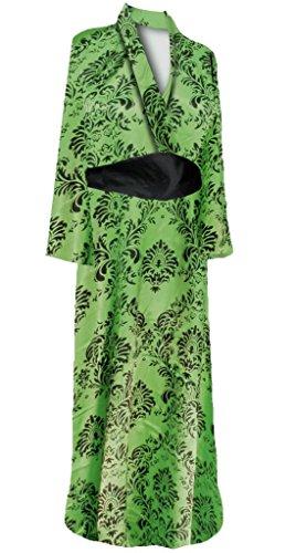 Geisha Costume Sash (Sanctuarie Designs Womens Green Stencil Print Geisha Robe Plus Size Supersize Halloween Costume Dress/3x4x/../)