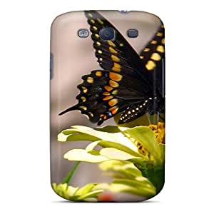 Premium Butterfly Yellow Back Cover Snap On Case For Galaxy S3