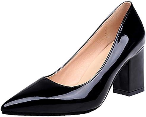 Chunky Heel Shoes Plus Size Women Pumps