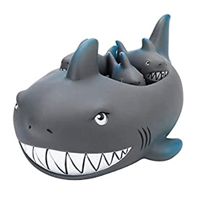 Playmaker Toys Rubber Shark Family Bathtub Pals - Floating Bath Tub Toy: Toys & Games
