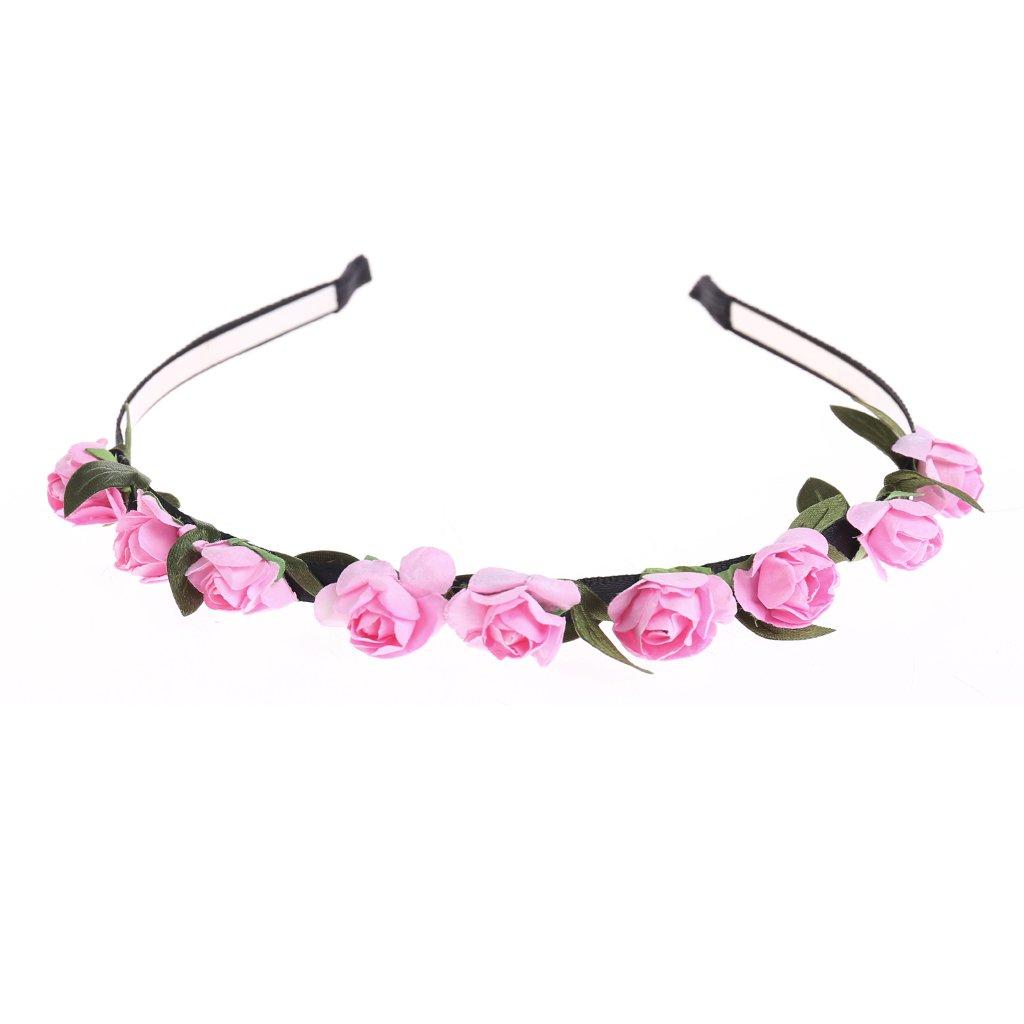 Amazon Best Topshop 10pcs Rose Flower Crown Headband Floral