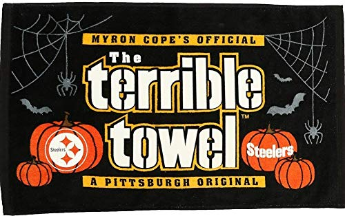 Pittsburgh Steelers Myron Cope's Official Terrible Towel Halloween Glow in the Dark Edition - New with Tags]()