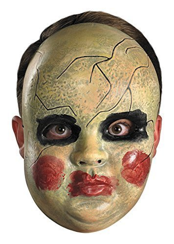 Smeary Baby Doll Face Mask Costume Accessory