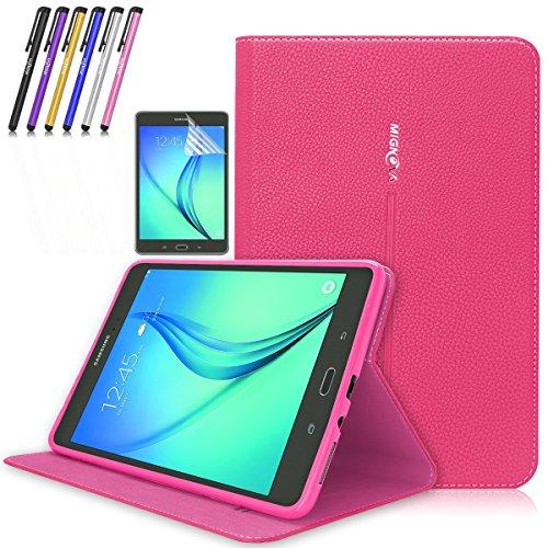 Super Slim Case for Samsung Galaxy Tab A 8-Inch Tablet SM-T350 (Pink) - 6
