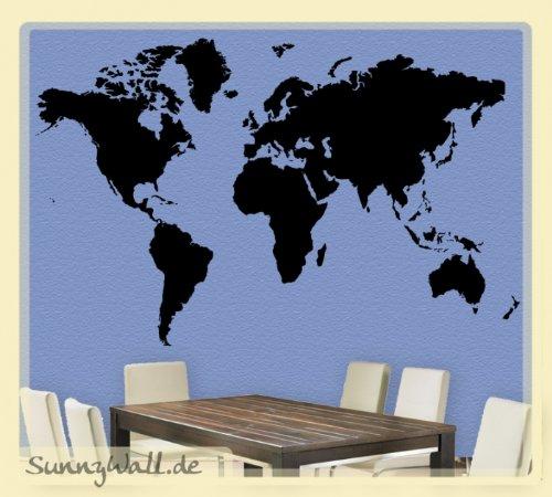 Sunnywall Pared Tatuajes Mapa del Mundo Atlas: Amazon.es: Hogar