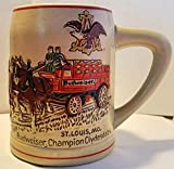 Budweiser Holiday Steins Collectible Holiday Stein Series (Yr 1980-Var. Large Pre 80's)