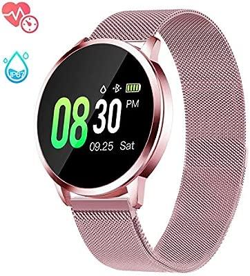 naack Smartwatch Mujer, Impermeable Reloj Inteligente con Funciones de Deporte Monitor de Actividad IP67 con Monitor de Sueño Pulsómetro Podómetro ...