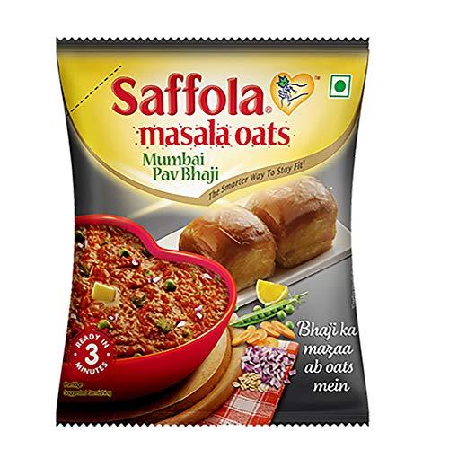 Saffola Masala Oats Mumbai Pav Bhaji, 120 grams Pouch (4.23 oz) - vegetarian - oatmeal India