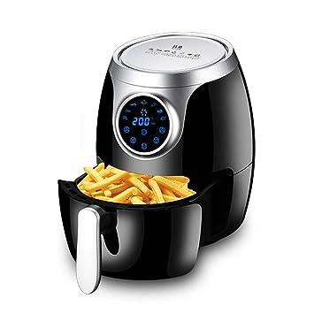 Freidora eléctrica eléctrica con pantalla táctil táctil Salud Freidora rápida sin aceite con bajo contenido de grasa Cocina para alimentos fritos saludables ...