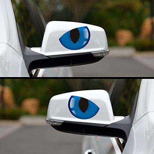 Hanbaili 10Pcs Personalized Cat Eyes 3D sticker 3D Car Auto Rear View...