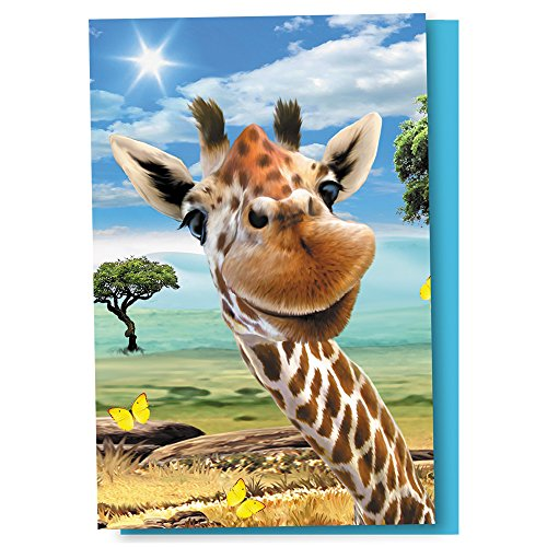 Tree-Free Greetings EcoNotes 12 Count Giraffe Selfie All Occasion Notecard Set with Envelopes, 4 x 6 Inches (FS56906) by Tree-Free Greetings