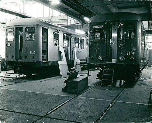 Vintage photo of Rail coaches. ()