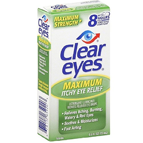 Clear Relief Redness Eyes Sterile (Clear Eyes Itchy Eye Relief Eye Drops-0.5 oz)