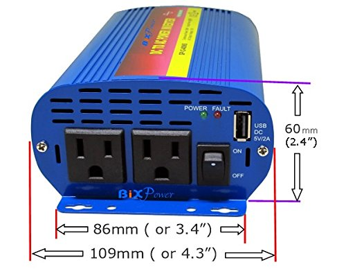 BiXPower XP200 Pure Sine AC Power Pack - 150W Pure Sine Wave AC Power Inverter with 192Wh Lithium Ion Battery by BiXPower (Image #4)