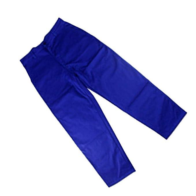 Sharplace Pantalones Ropa Soldadura Retardante Llama Soldador Azul Visualización Rápida Larga Vida Útil: Amazon.es: Ropa y accesorios