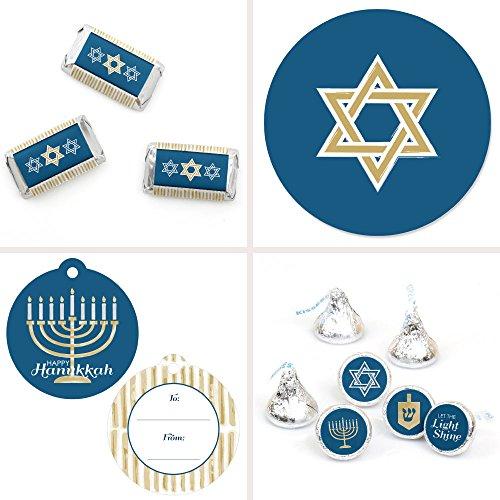 - Happy Hanukkah - Chanukah Party Decorations Favor Kit - Party Stickers & Tags - 172 pcs