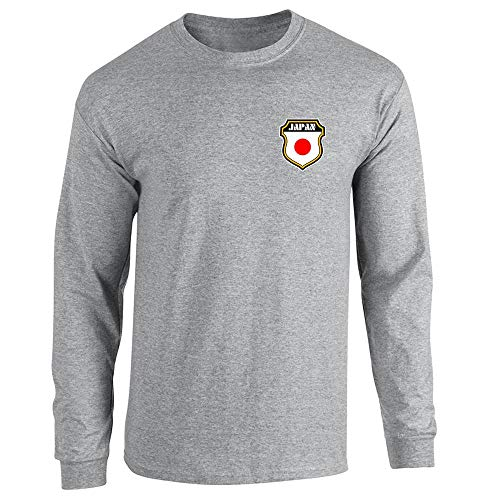 Japan Soccer Retro National Team Sport Grey S Long Sleeve T-Shirt