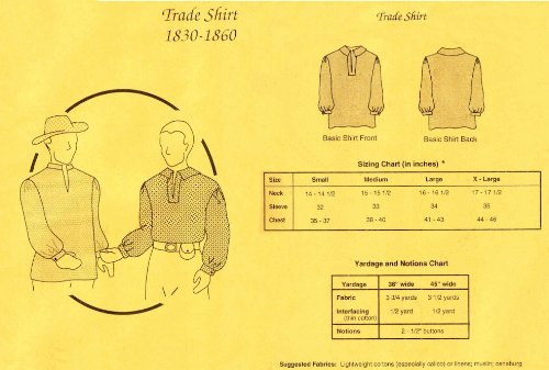 1830-1860 Men's Trade Shirt (Dances With Wolves Indian Costumes)