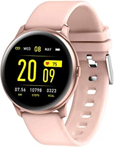 KW19 Sports Smart Watch for Men Women, Pressure Oxygen Monitor, Heart Rate Sleep Monitor, Message Reminder, Smart Bracelet Fitness Tracker fit for Android and IOS