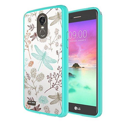 LG Stylo 3 Case, LG Stylo 3 Plus Case, Capsule-Case Hybrid Slim Snap-on Case w/TPU Edge (Teal Green) for LG Stylo3 LS777 M430 L83BL L84VL / LG Stylo3-Plus TP450 MP450 - (Dragonfly)