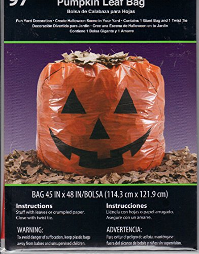 Pumpkin Leaf Bag Halloween Decoration -