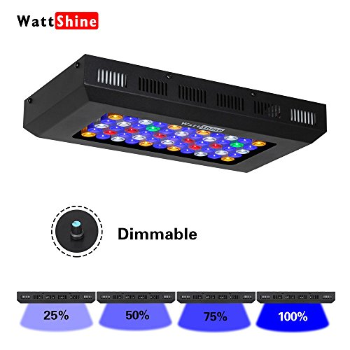 Reef Fish Tanks (Dimmable LED Aquarium Light 165W Marine Led Fish Tank Lighting with 6 Bands Spectrum Marine Aquarium Lighting for Coral Reef and Fish Tank)