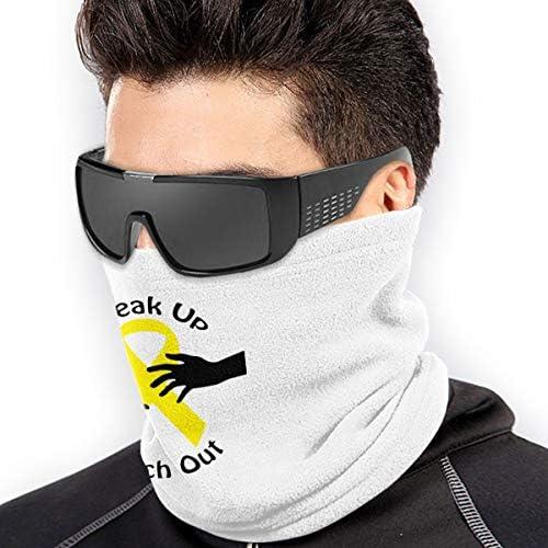 Suicide Prevention ネックガード 吸汗速乾 バンダナ 縫い目なし フェイスガード 多機能 スポーツ ターバン
