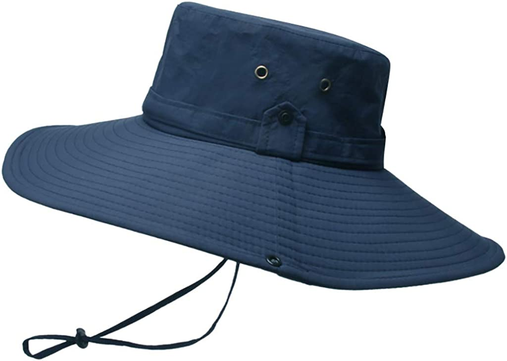 Jamicy /™ Mens Foldable Bucket Hat Waterproof Sun Protection Breathable Fisherman Cap Foldable Hat Outdoor Hiking Hat Oversized Eaves Sun Hat