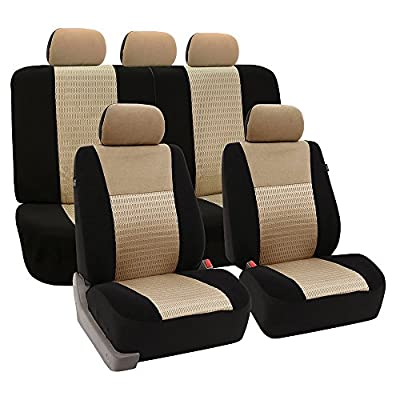 FH GROUP FH-FB060114 Beige Deluxe 3D Air Mesh Seat Covers