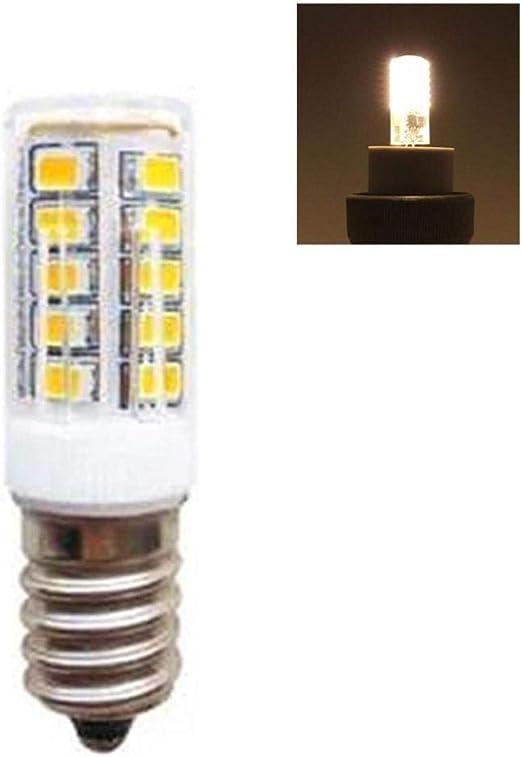 Lacyie E14 5W Bombilla de Nevera LED Bombilla Impermeable 320LM 2700-6500K Blanco cálido Ángulo de Haz de 360 °, Reemplace por luz halógena de 25W, para Campana extractora de Nevera: Amazon.es: Hogar