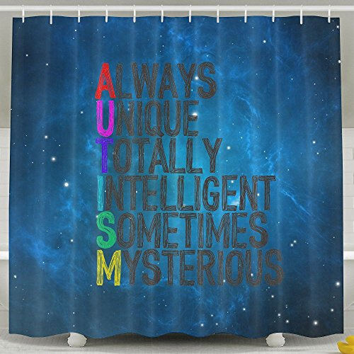 How To Spell Autism Shower Curtain Fabric Bathroom Shower Curtain Set,72x60 Inch