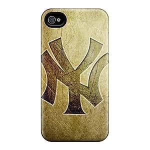 Iphone 4/4s PdX3671brrL Allow Personal Design Beautiful New York Yankees Pattern Anti-Scratch Hard Phone Case -JonBradica