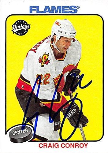 Craig Conroy autographed Hockey Card (Calgary Flames) 2001 Upper Deck Vintage #41