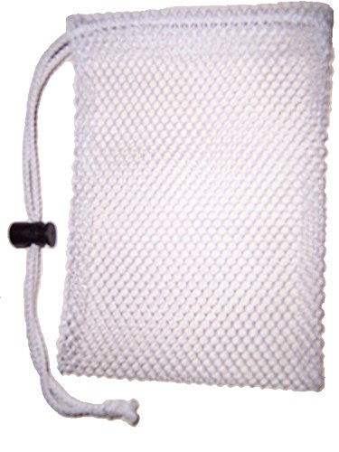 (White SoapSaver w/ string lock. The new