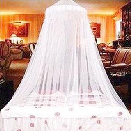 Guerbrilla Mosquito net for Twin, Queen and King Size Bed, Large Mosquito Netting Curtains, Canopy for Bed, Round Insect Fly Screen, Insect Protection Repellent Shield, Full Hanging Kit (white) by Guerbrilla