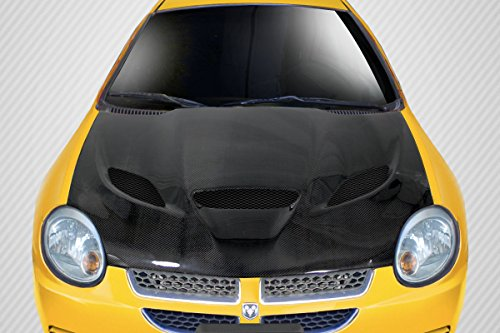 - Carbon Creations ED-INU-307 DriTech Hellcat Look Hood - 1 Piece Body Kit - Compatible For Dodge Neon 2000-2005
