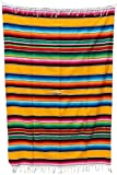 Mexican Sarape Bright Colors Bedspread (90'' L X 60'' W Twin, Yellow)