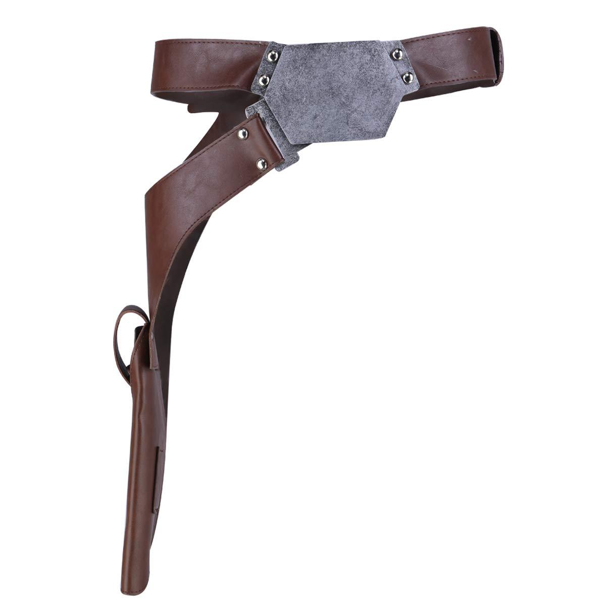 Mesky EU Han Solo Cintur/ón con Hebilla Belt Holster Film Versi/ón Props Costume Accesorio PU Leather Unisex para Hombre Mujer