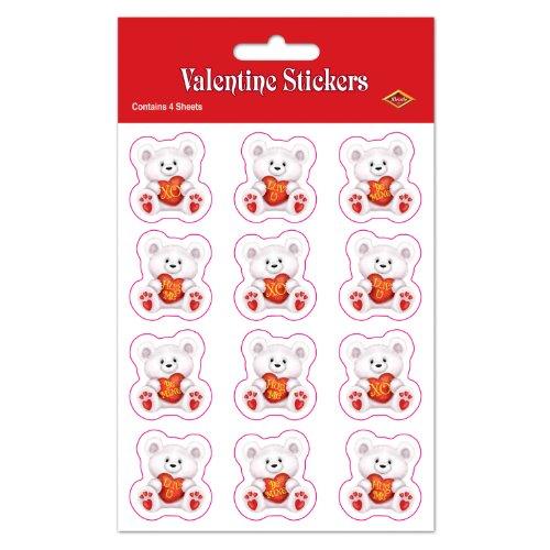 Valentine Bear Stickers   (4 (Easy Bear Costume)