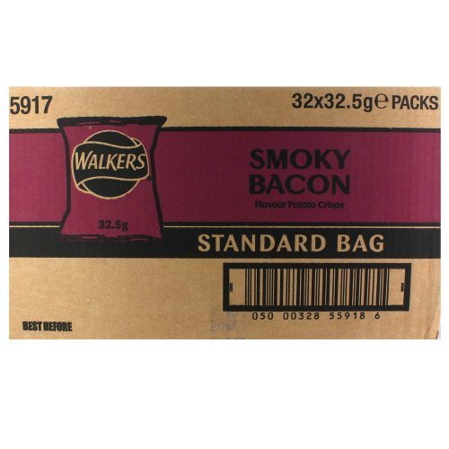 - Walkers Crisps Smoky Bacon x 32 1040g