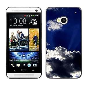 TopCaseStore / la caja del caucho duro de la cubierta de protección de la piel - Sun Clouds God Inspiring Sky Summer - HTC One M7
