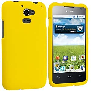 Accessory Planet(TM) Yellow Hard Snap-On Matte Rubberized Case Cover Accessory for Huawei Premia 4G