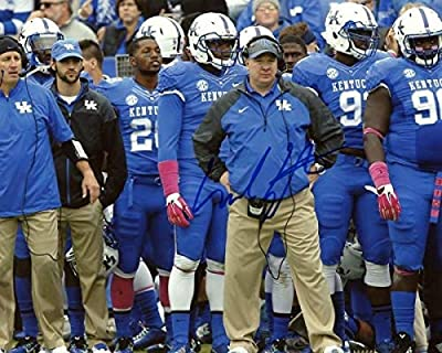 Mark Stoops Kentucky Wildcats Head Coach Sidelines Autographed Signed 8x10 Photo - COA Included Autograph