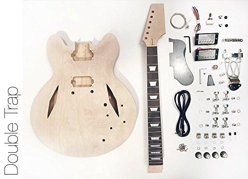 DIY Electric Guitar Kit - Semi Hollow Diamond Build Your Own Guitar Kit ()